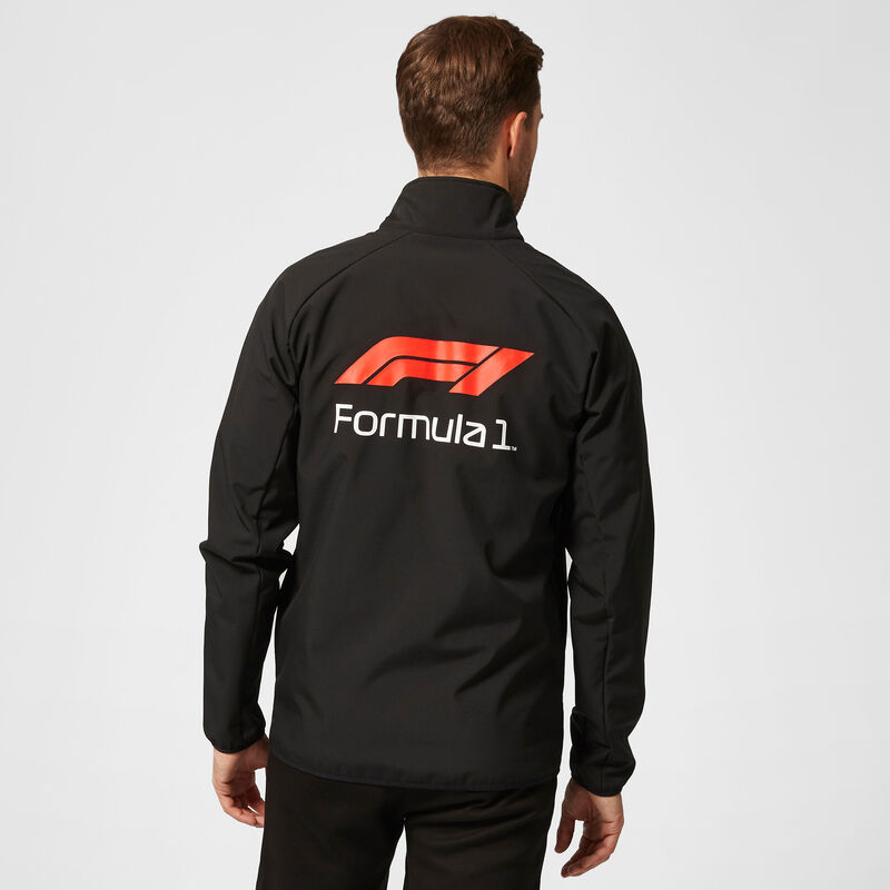 F1 FW TECH SOFTSHELL JACKET - black