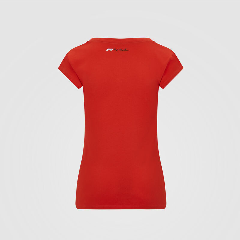 F1 FW WOMENS LARGE LOGO TEE - red