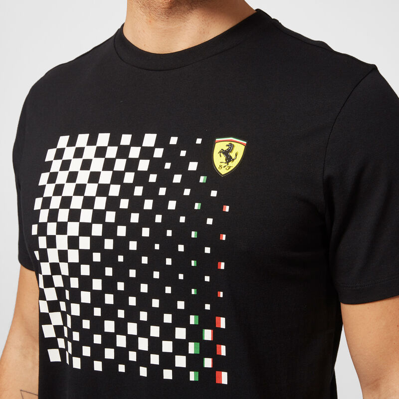 SF FW MENS CHECKERED GRAPHIC TEE - black