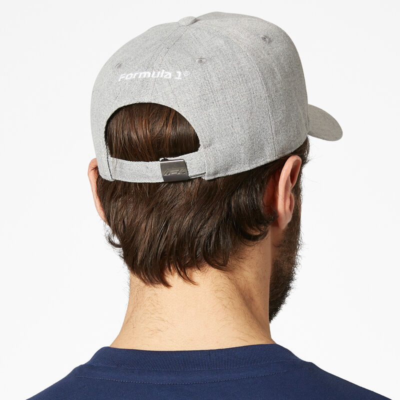 F1 FW LARGE LOGO BASEBALL CAP - grey