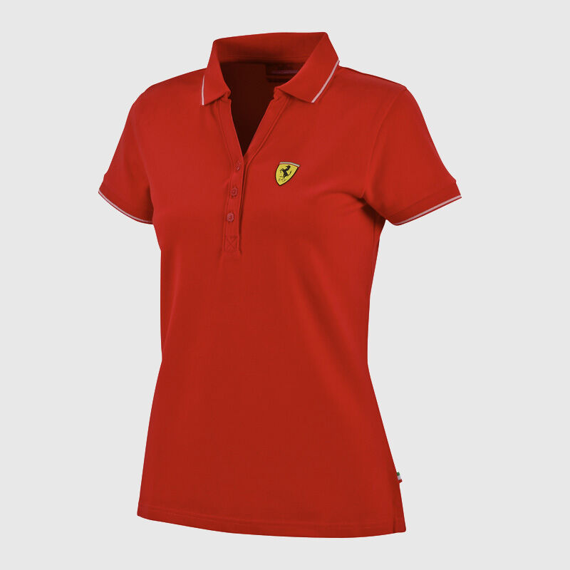 WOMENS CLASSIC POLO - red