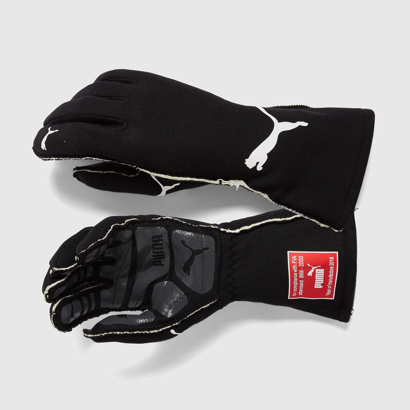 PU RW PODIO FIA GLOVES - black