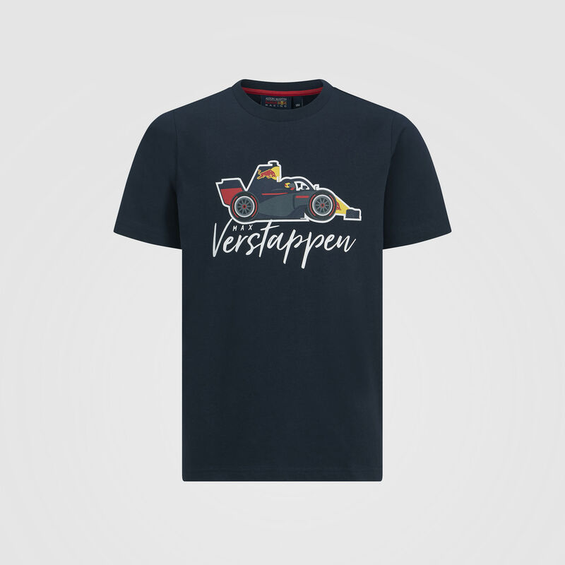 AMRBR FW KIDS VERSTAPPEN CAR GRAPHIC TEE  - navy