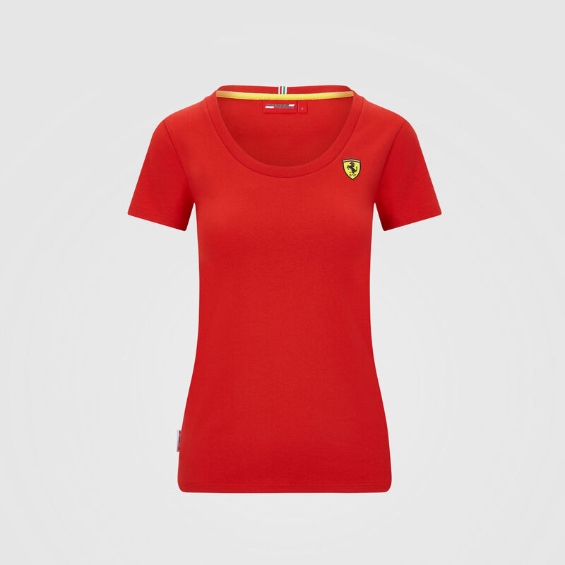 SF FW WOMENS SMALL SHIELD TEE - red