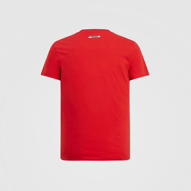 SF FW MENS ANGLED SCUDERIA GRAPHIC TEE - red