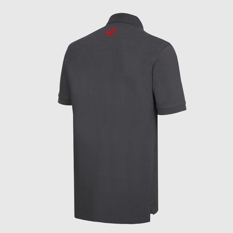HAAS F1 FW MENS LOGO POLO - grey