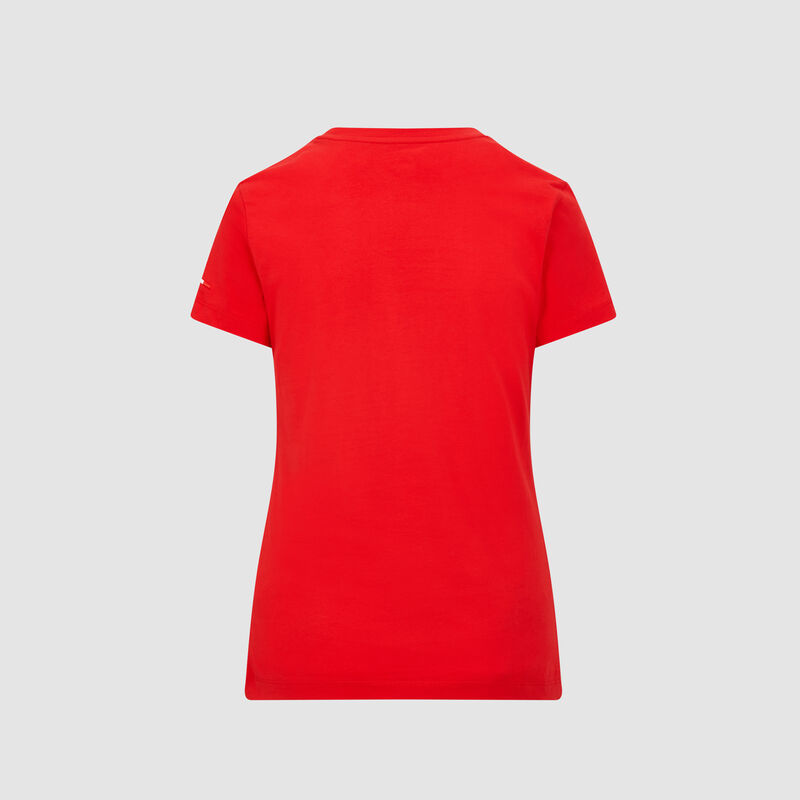 SF PU FW WOMENS SMALL SHIELD TEE - red
