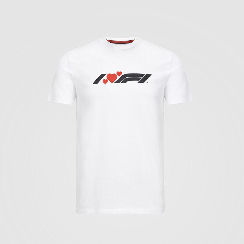 F1 FW MENS I HEART F1 TEE - white