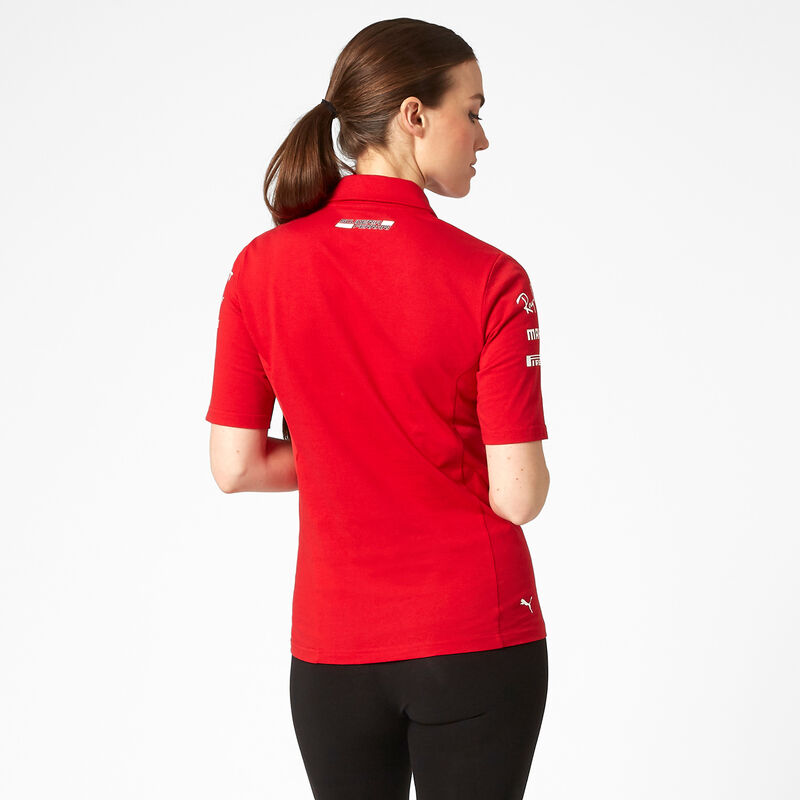 SF RP WOMENS TEAM POLO - red
