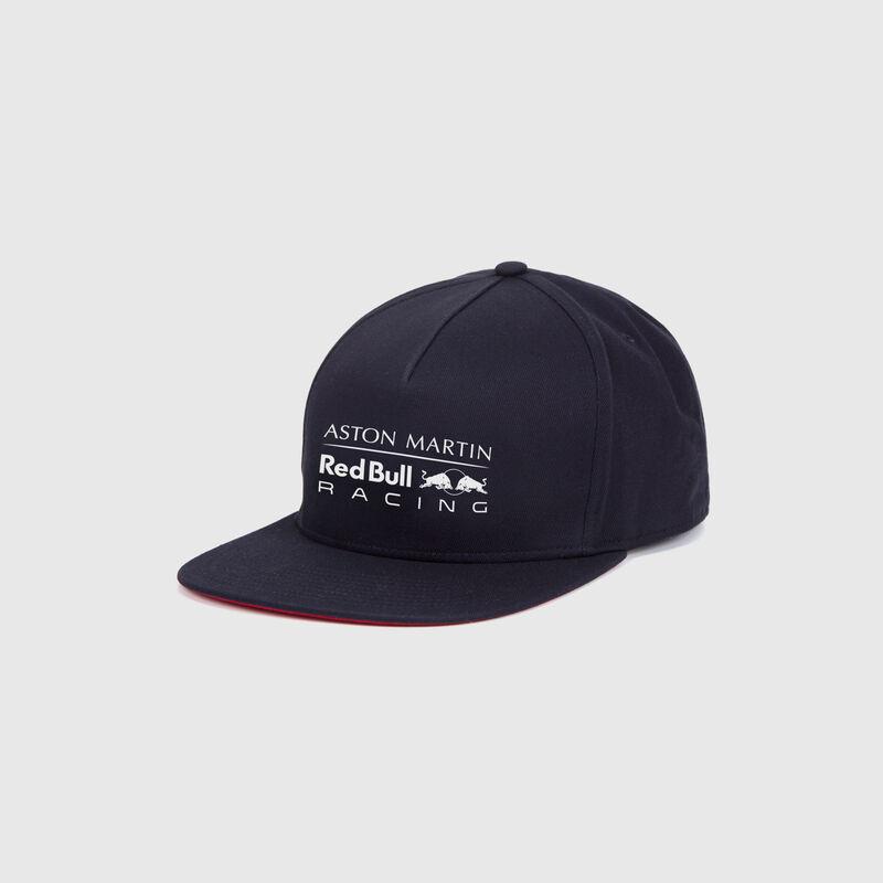 RBR FW LOGO FLAT BRIM CAP - navy