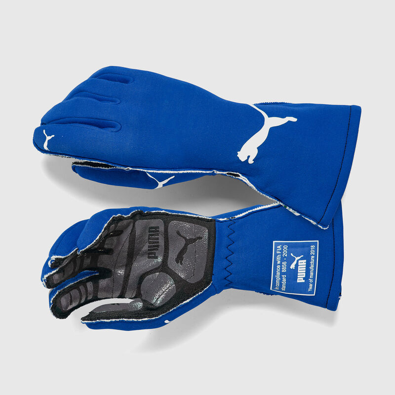 PU RW PODIO FIA GLOVES - blue