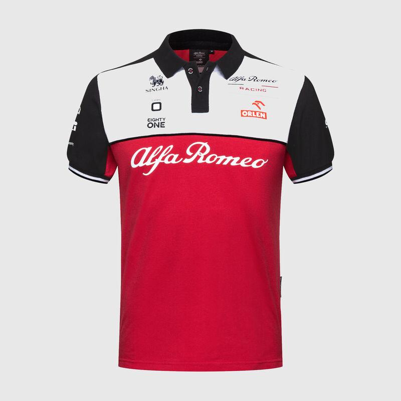 ALFA ROMEO RACING MENS POLO - red