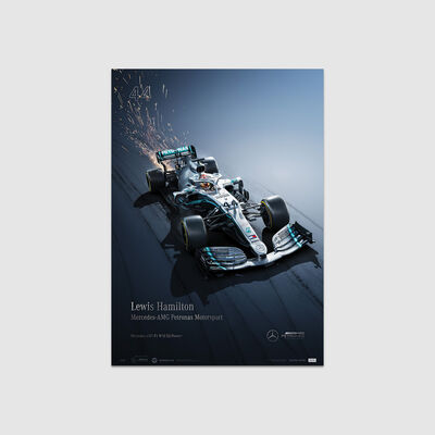 Lewis Hamilton 2019 Collector's Edition Poster