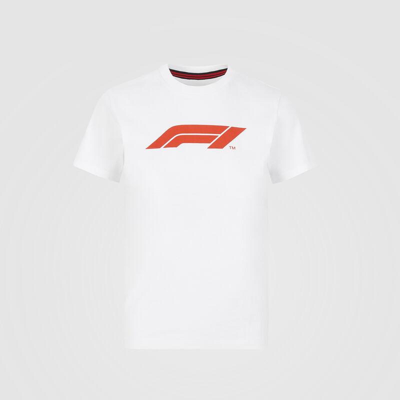 F1 FW KIDS LOGO TEE - white