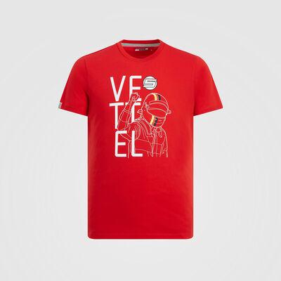 T-shirt de fan du pilote Sebastian Vettel