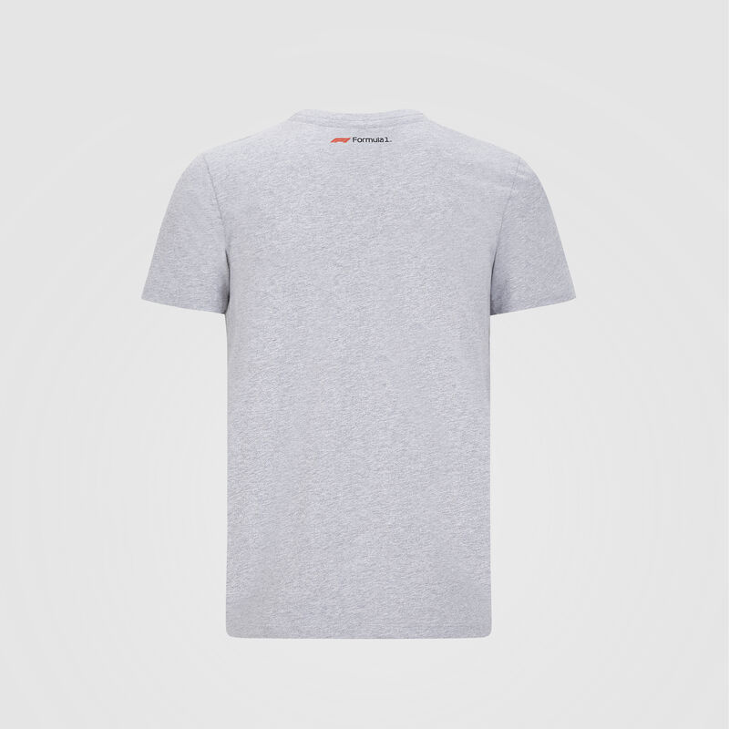 F1 FW MENS LARGE LOGO TEE - grey