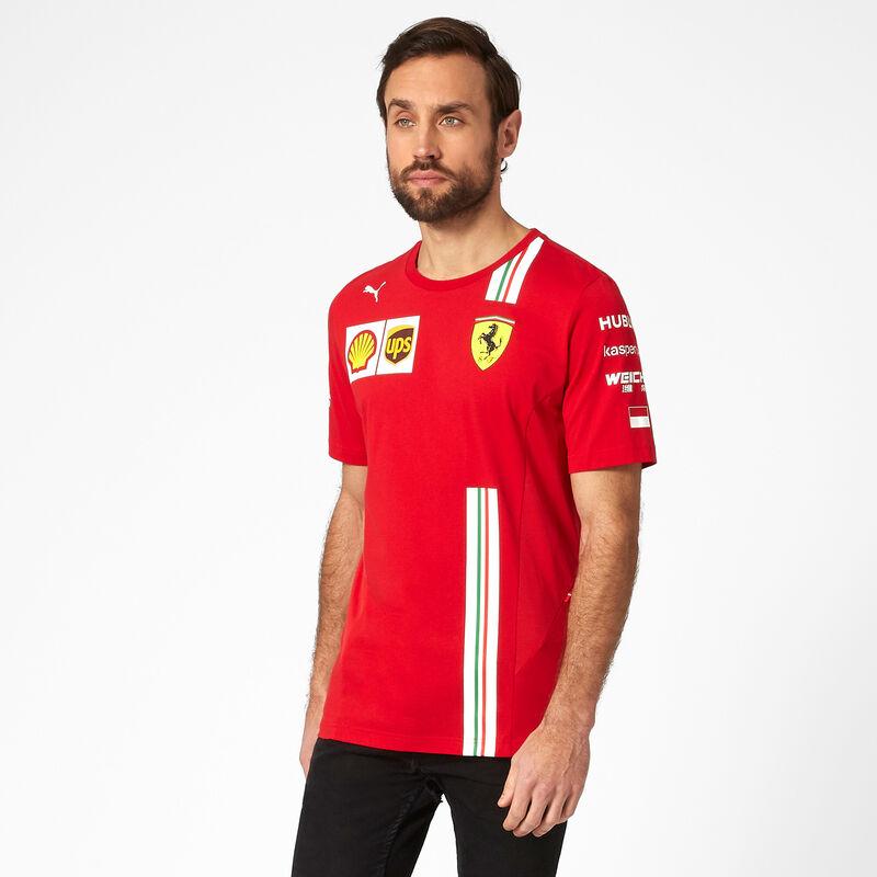 Sebastian Vettel T-Shirt Kinder Scuderia Ferrari Offizielle Formel 1 Merchandise 2020 Rot Baumwolle