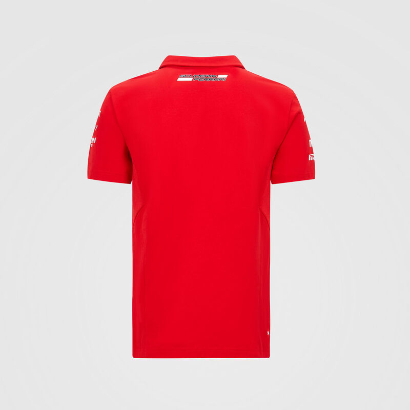 SF RP KIDS TEAM POLO - red