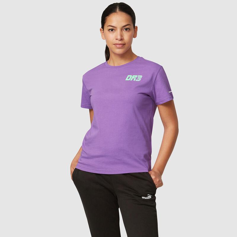 MCLAREN FW WOMENS RICCIARDO NO3 SILVERSTONE TEE - purple