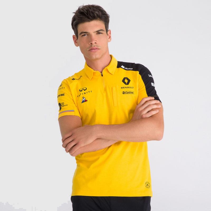 Renault F1 Team Sweat-Shirt /à col Rond pour Homme 2019 Officiel Fan Noir//Jaune