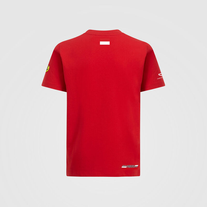 SF FW KIDS LECLERC DRIVER TEE - red