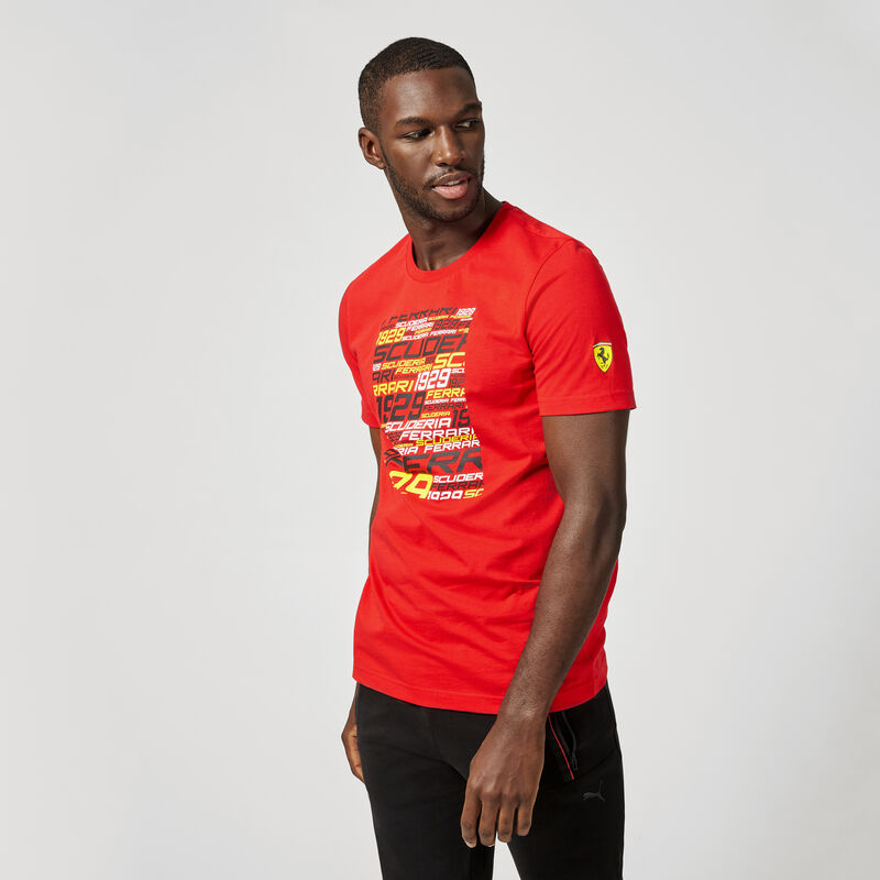 SF PU FW MENS GRAPHIC TEE - red