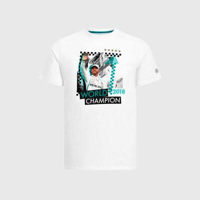 Camiseta Lewis Hamilton 2018 Championship