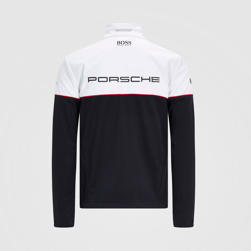 PORSCHE RP MENS TEAM SOFTSHELL JACKET - black