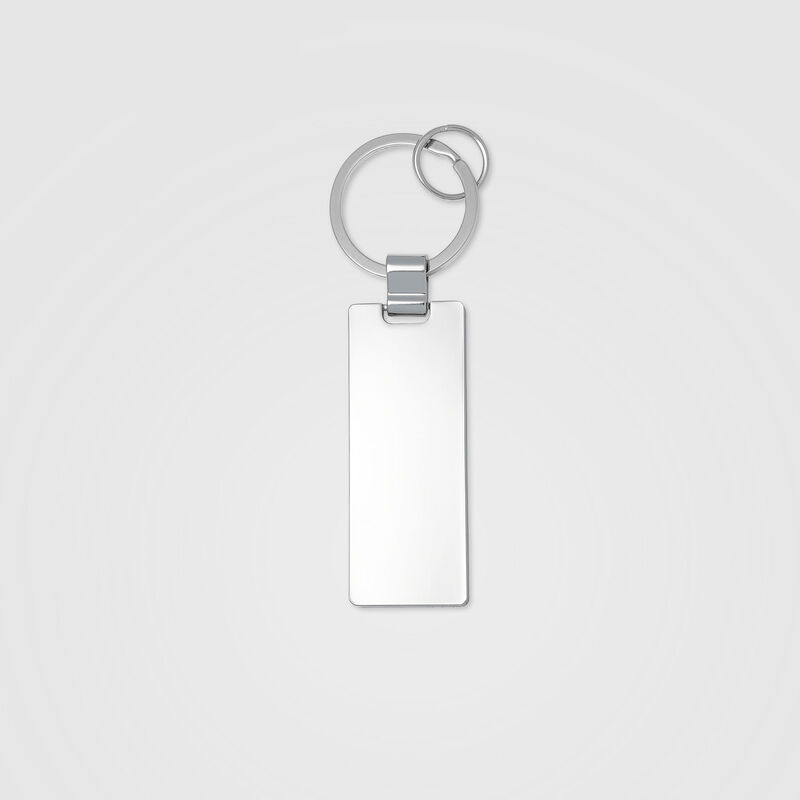 PORSCHE FW ENGRAVED KEYRING - silver
