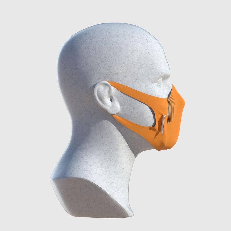 MCLAREN STRIPE U FACE MASK - orange
