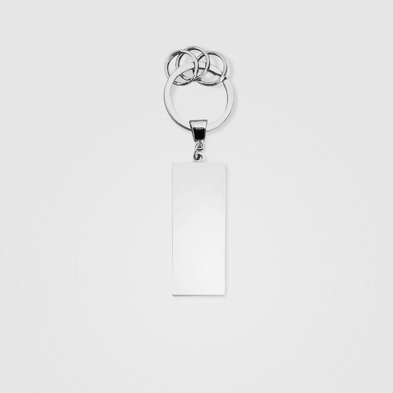 SF FW METAL LOGO KEYRING - black