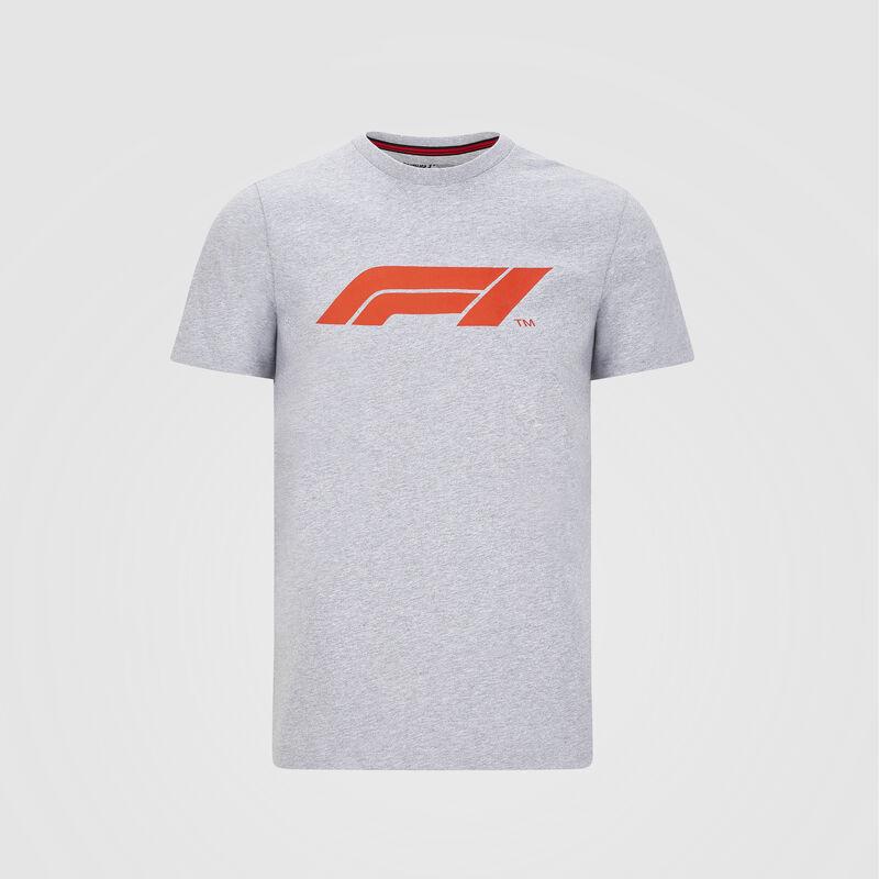 F1 FW MENS LARGE LOGO TEE - grey