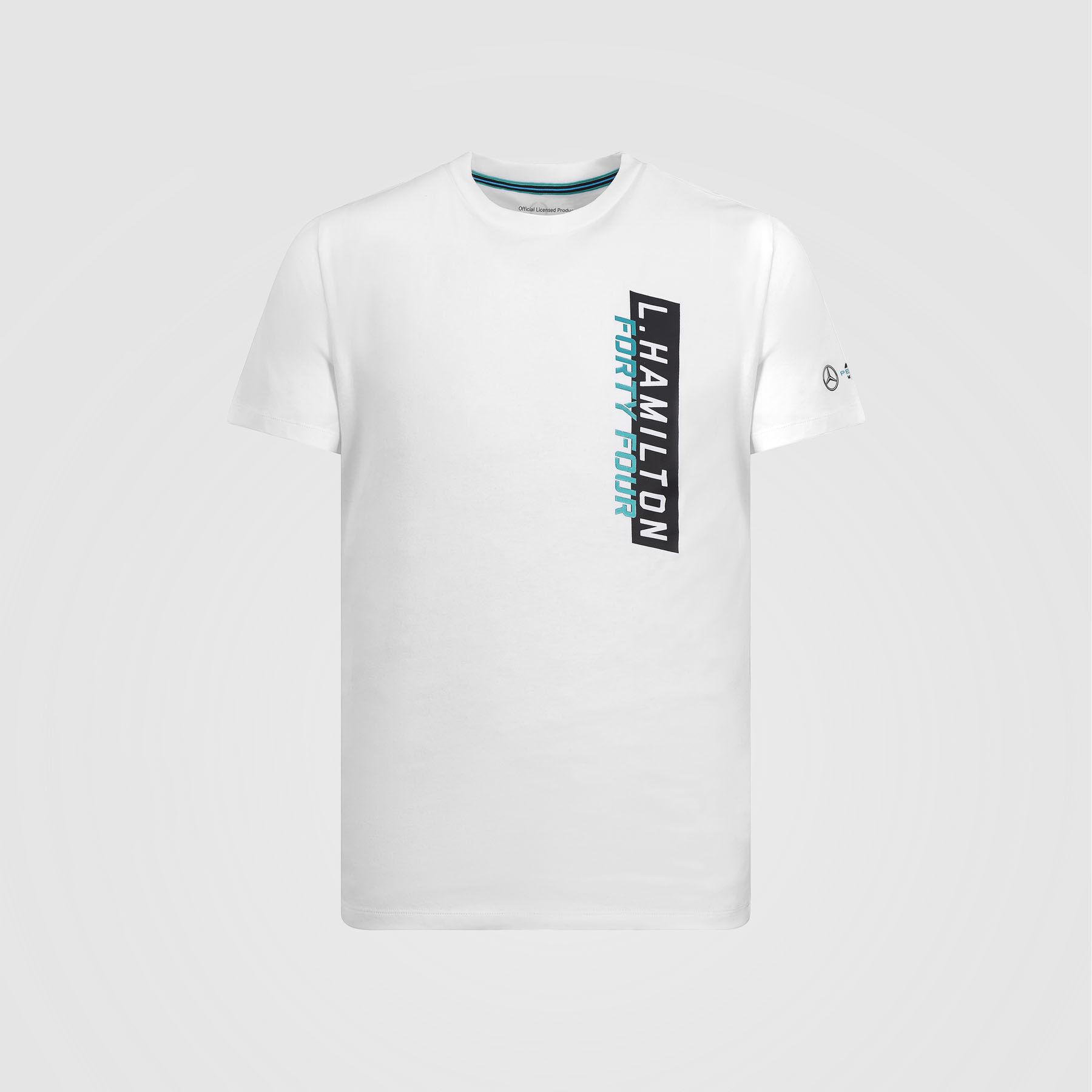 T-Shirt d/équipe Blanc Mercedes-AMG Petronas Motorsport Collection 2019 F1/™ pour Enfant