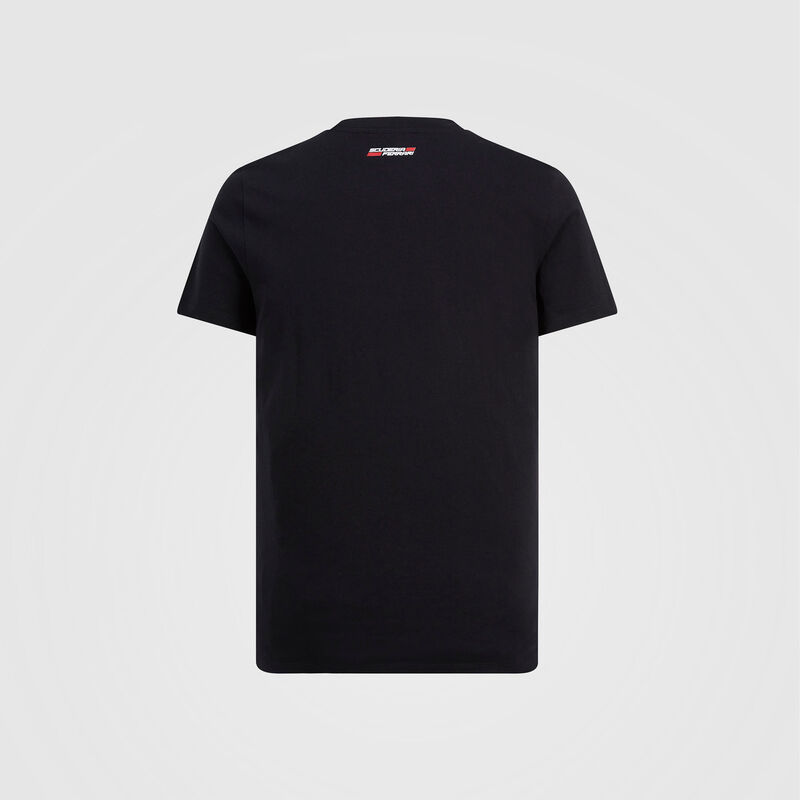 SF FW MENS ANGLED SCUDERIA GRAPHIC TEE - black