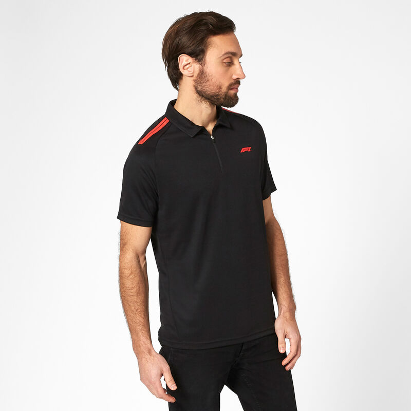 F1 FW TECH POLO SHIRT - black