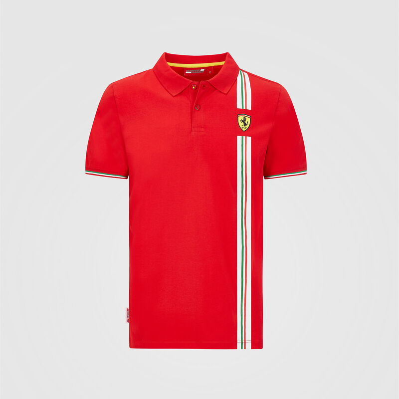 SF FW MENS ITALIAN FLAG POLO - red