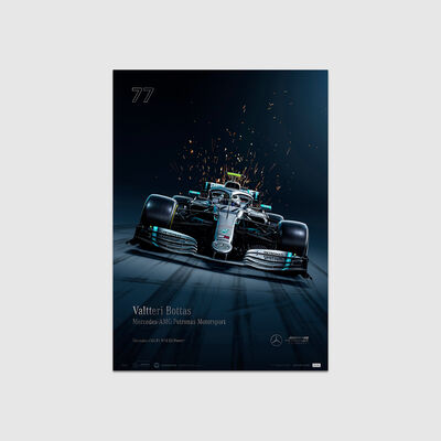 Valtteri Bottas 2019 Collector's Edition Poster