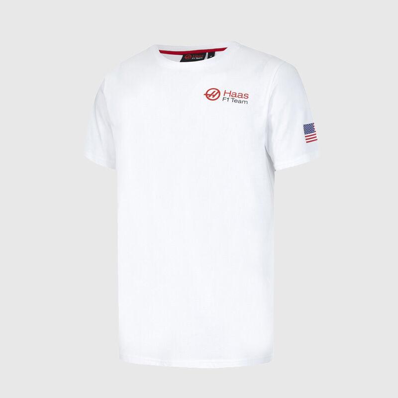 HAAS FW USA CAR 8 TEE - white