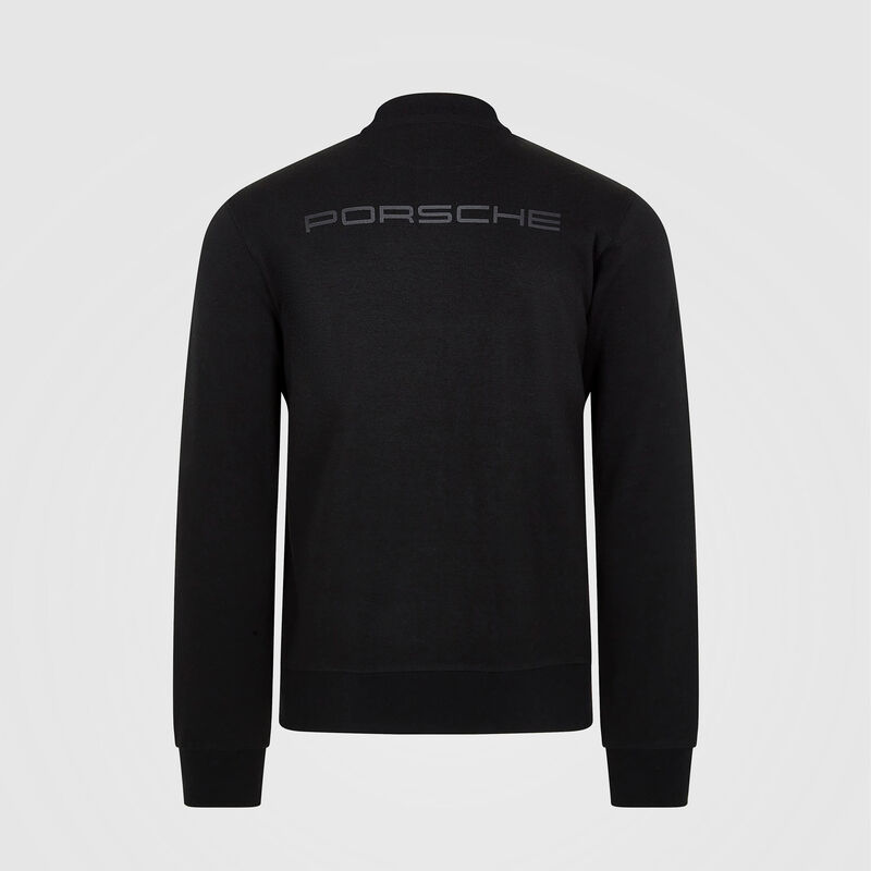 PORSCHE FW MENS ZIP SWEAT - black