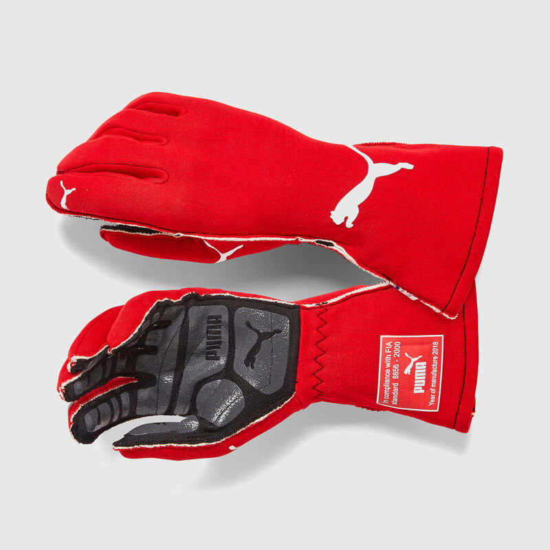 PU RW PODIO FIA GLOVES - red