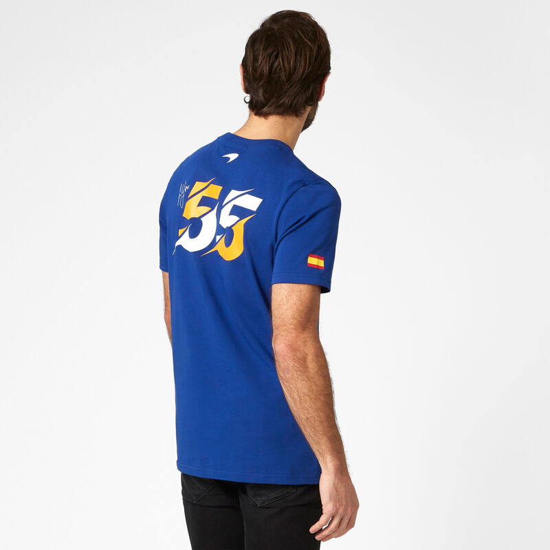MCLAREN FW MENS SAINZ GRAPHIC TEE - blue