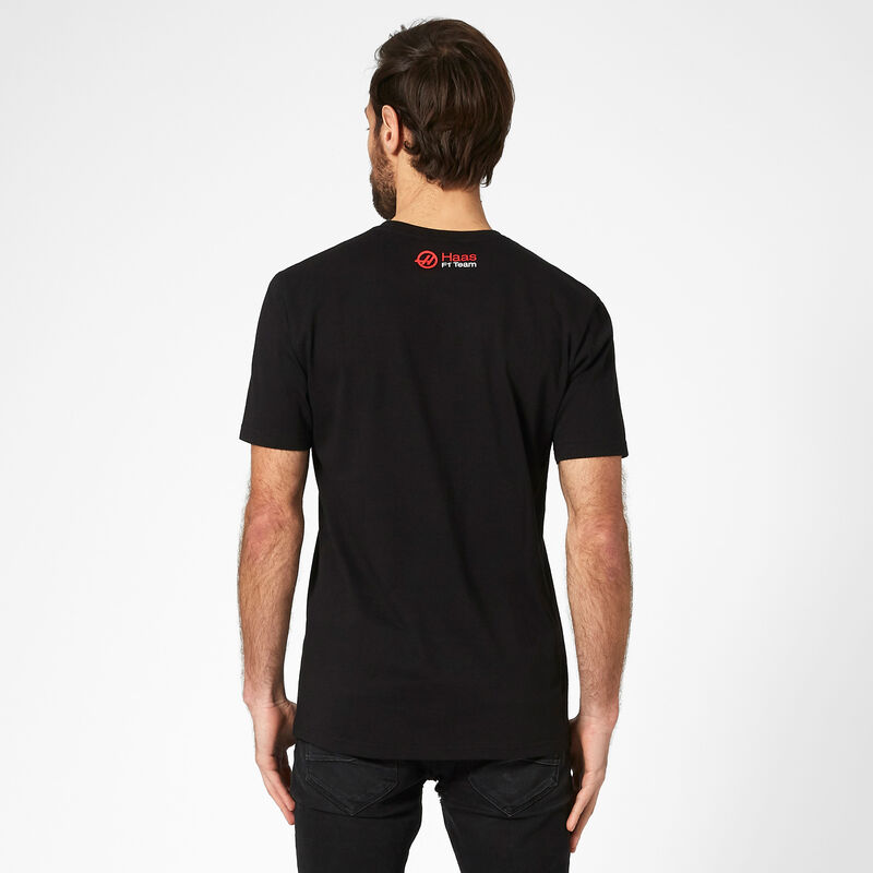 HAAS F1  FW MENS GRAPHIC LOGO TEE - black